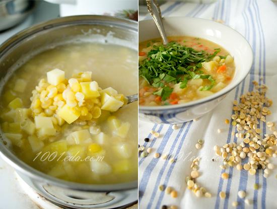 Суп гороховый постный