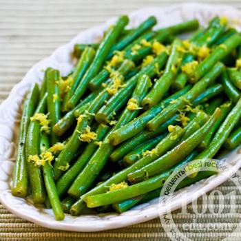 Легкий гарнир из зеленой фасоли