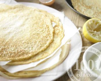 Рецепт блинов на воде без яйца