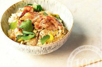 Рис с курицей по-японски Оякодон