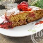 Клубничный пирог: рецепт с пошаговым фото
