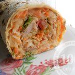 Рулет из лаваша с начинкой из свинины и корейской моркови: рецепт с пошаговым фото