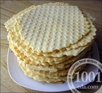 торт из вафельных коржей и фарша рецепт с фото