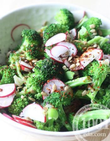 брокколи салат без майонеза рецепт