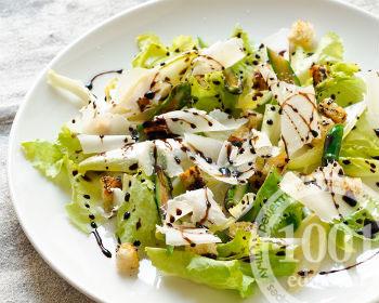 Как готовят салат Цезарь в США