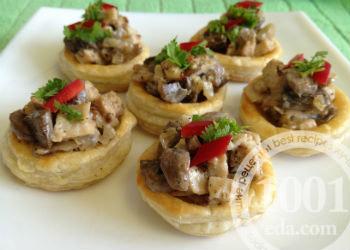 Волованы с грибами рецепт с фото