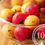 Летний салат из дыни и арбуза