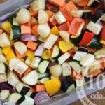 Овощное рагу в духовке со сметаной