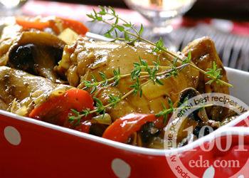 Рецепт рагу с курицей, грибами и картофелем