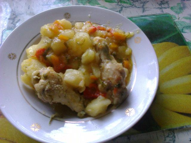Соус с курицей и картошкой в мультиварке рецепт с фото