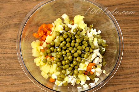 Салаты с пошаговым с оливье