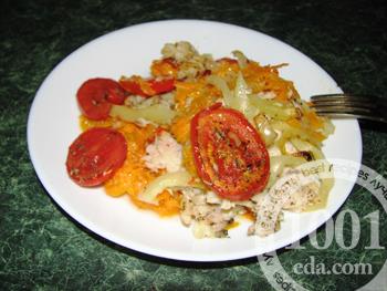 Рецепт диетической рыбы с овощами