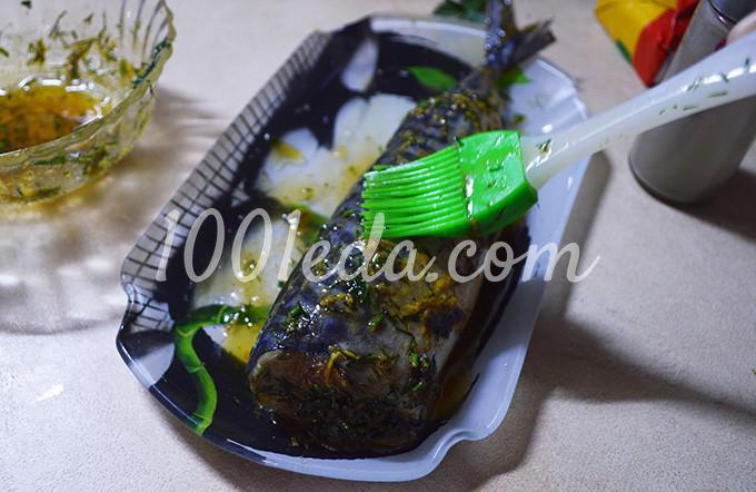 Скумбрия целиком в духовке: рецепт с пошаговым фото Шаг №8
