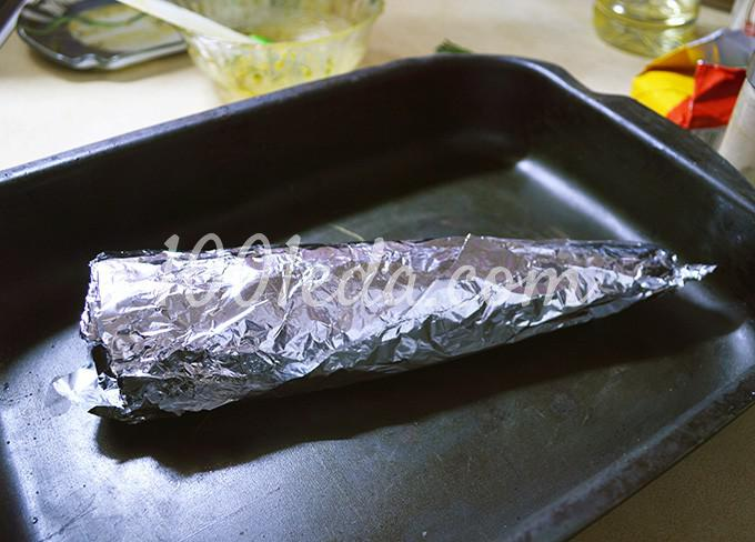 Скумбрия целиком в духовке: рецепт с пошаговым фото Шаг №11