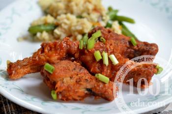 Рецепт куриных крылышек к остром соусе