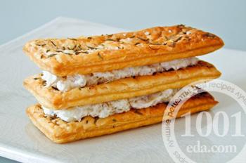 Рыбного закусочного торта наполеон