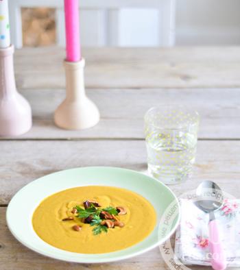 Рецепт крем-супа с тыквой и кешью
