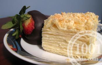Рецепт торта Наполеон с творогом