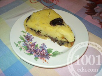 Рецепт картофельной запеканки с грибами, овощами и розмарином)