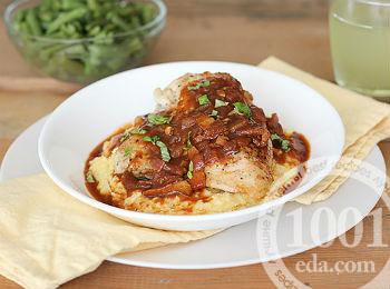 Рецепт поленты с курицей
