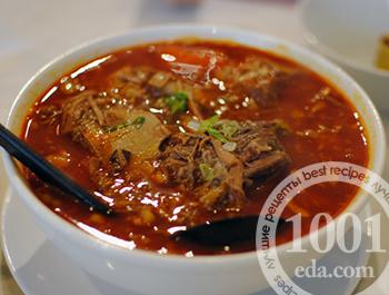 рецепты для мультиварки томатный суп с говядиной