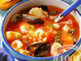 рецепт супа из морепродуктов со сливками с фото