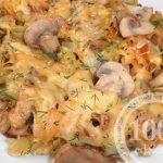 Макароны спагетти с грибами в мультиварке