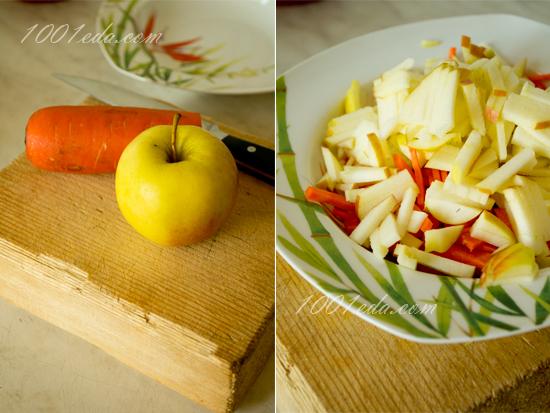 Детский салат с морковкой и яблоком: рецепт с пошаговым фото