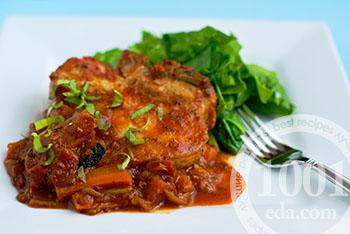 Рецепт отбивных с томатами