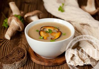 рецепт суп грибной с куриной