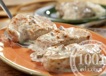 Отбивные из свинины со сметаной