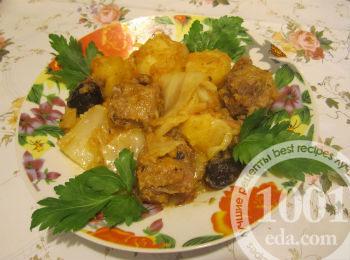 Утка с капустой и картофелем в мультиварке