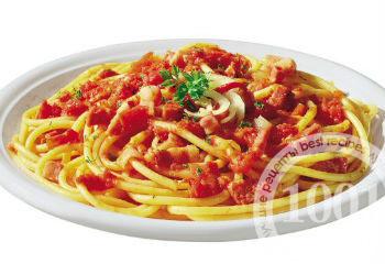 Макароны с беконом и сыром по-итальянски