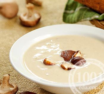 грибной суп из шампиньонов на курином бульоне рецепты