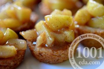 Яблочный пряный десерт  в два укуса: рецепт с пошаговым фото