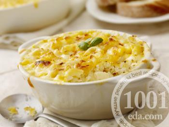 Макароны запеченные с сыром в горчичном соусе