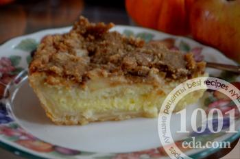 Яблочный пирог с заварным кремом на кефире: рецепт с пошаговым фото