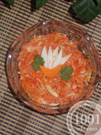 рецепт витаминного салата без уксуса