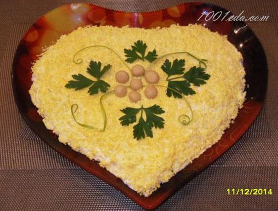 салат из курицы и ананасов и капусты рецепт с фото очень вкусный