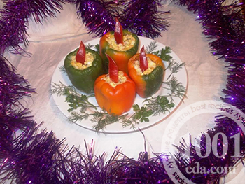 Рецепт новогоднего салата в перце
