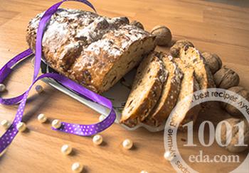 Хлеб праздничный с орехами и сухофруктами: рецепт с пошаговым фото