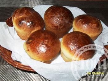 Сдобные кексы с яблочной начинкой
