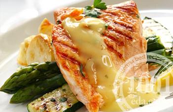 Как приготовить стейк из лосося в апельсиновом соусе