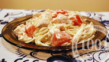 Как приготовить макароны с лососем в сливочном соусе