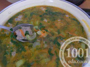 Суп с фрикадельками и сельдереем рецепт