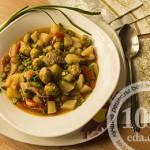 Картофель, тушеный с брюссельской капустой и свининой: рецепт с пошаговым фото