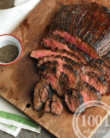 Стейк из говядины в духовке с грилем
