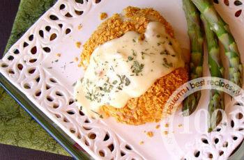 Куриные рулетики с овощной начинкой под соусом из горчицы