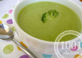 рецепт супа с брокколи для ребенка