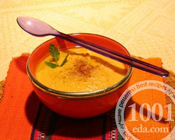 Детский суп-пюре из тыквы со сливками
